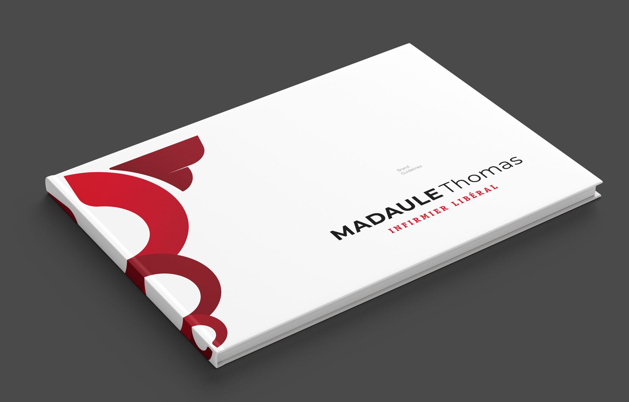Madaule Thomas. Infirmier Libéral. Brand Guidelines. Frame Girona.